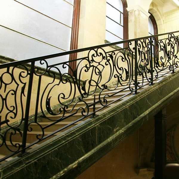 Directly supply high quality elegant wrought iron staircases designs supplier from china--IOK-163