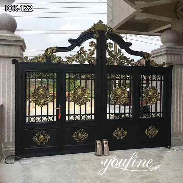 Double Sliding Wrought Iron Tree Gates Designs for Sale