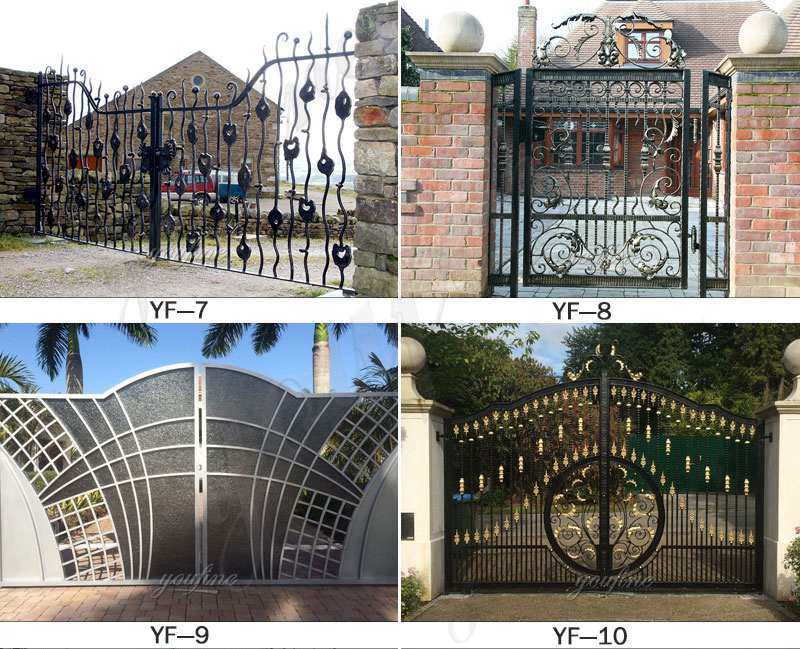 Double Sliding Wrought Iron Tree Gates