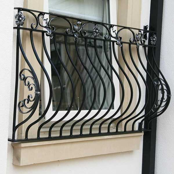 Exterior metal fence wrought iron balcony railing design for balcony decor on stock for sale--IOK-159