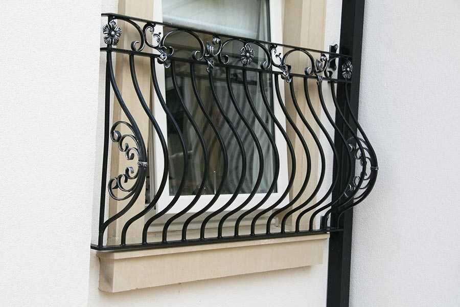 Exterior metal fence wrought iron balcony railing design for balcony decor on stock for sale–IOK-159