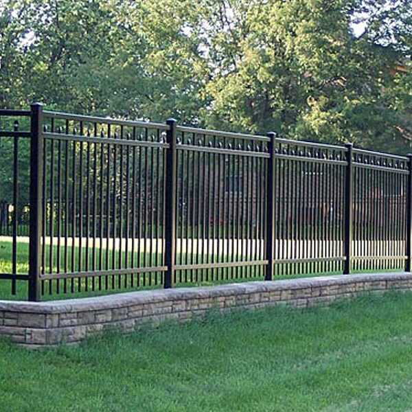 Factory supply cheap metal wrought iron fencing panels for garden guardian design for sale--IOK-210