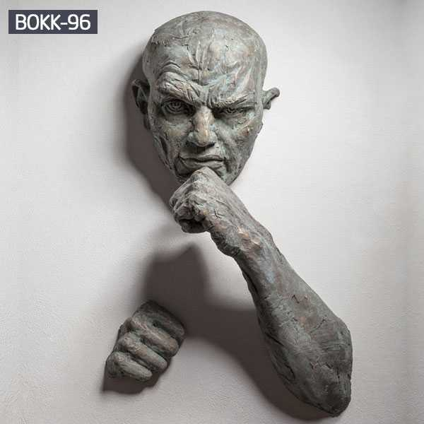 Famous indoor bronze wall sculpture custom size of famous artist Matteo Pugliese replica for sale BOKK-96