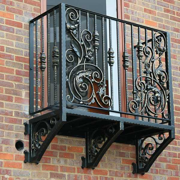 Faux high quality modern outdoor wrought iron fence for window balcony decor for sale--IOK-151