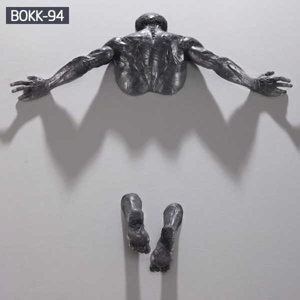 Figurative Sculptures Embedded In Gallery Walls  Matteo Pugliese Replica for Sale–BOKK-94