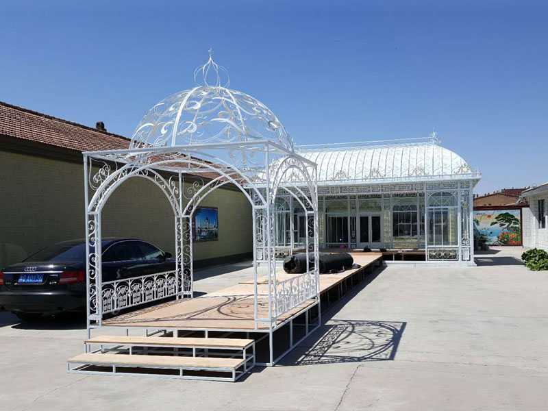 Large metal iron wedding decorative gazebo and arch designs
