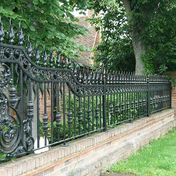 Modern metal yard wrought iron fence ideas for sale from China factory--IOK-220