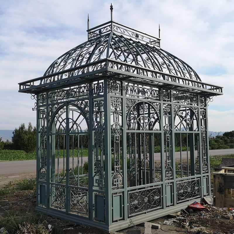 Outdoor garden metal iron pavilion designs hot sale