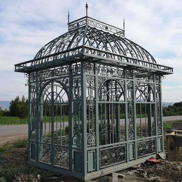 Outdoor garden metal iron pavillion designs hot sale