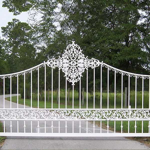 Simple modern estate wrought iron entrance gates for house for sale--IOK-184
