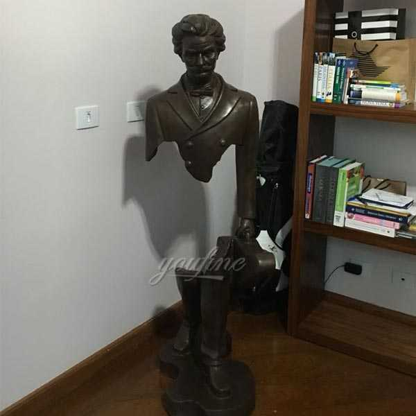 The Beautifully Imperfect Bronze Sculptures With Guitar Replica Of Bruno Catalano For Sale--BOKK-06