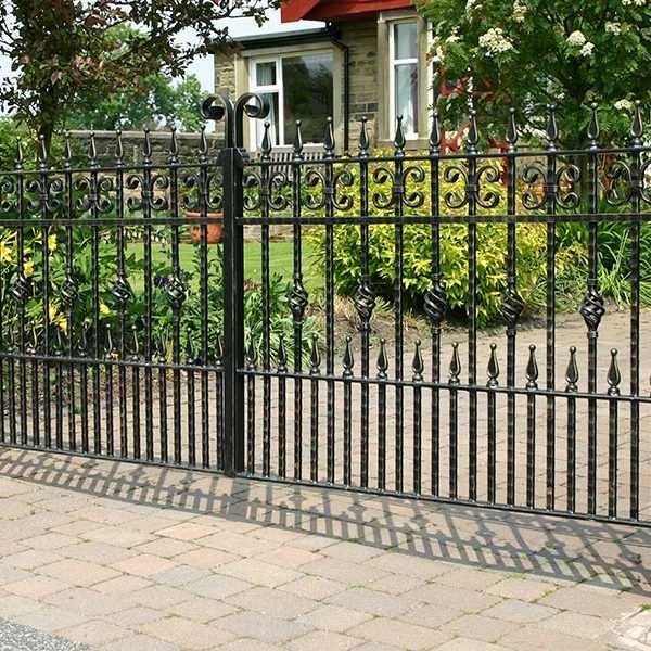 Wholesale decorative wrought iron fence panels and gates ideas home depot for sale–IOK-218