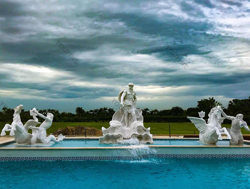 World most famous large Trevi fountain replica in pure white marble for our american friend--MOKK-87