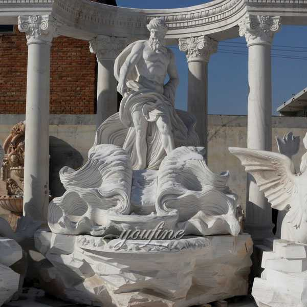 World most famous large trevi fountain replicas in pure white marble for our american friend--MOKK-87