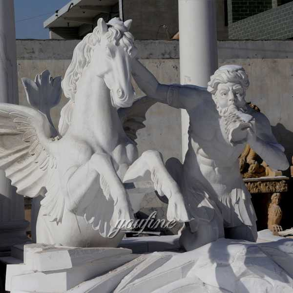 World most famous large trevi fountains replica in pure white marble for our american friend--MOKK-87