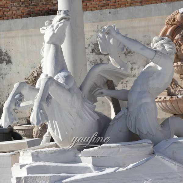 World most famous large trevi fountains replicas in pure white marble for our american friend--MOKK-87