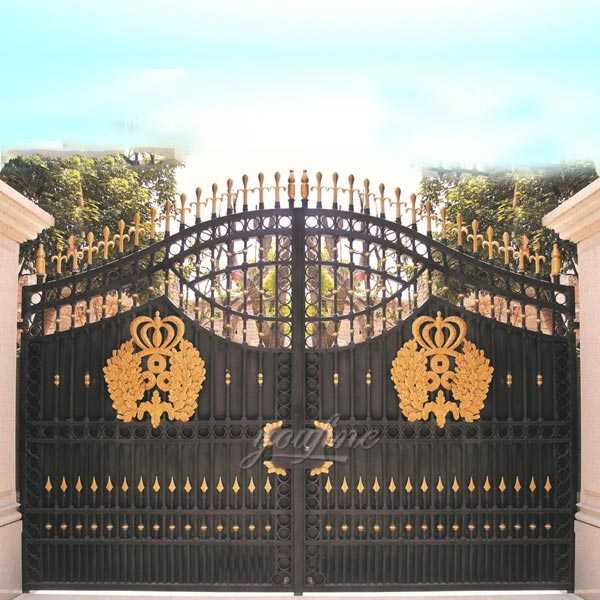 decorative beautiful double driveway modern sliding wrought iron gate designs for sale