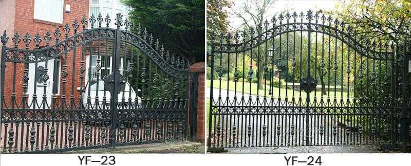 wrought iron double driveway gate designs