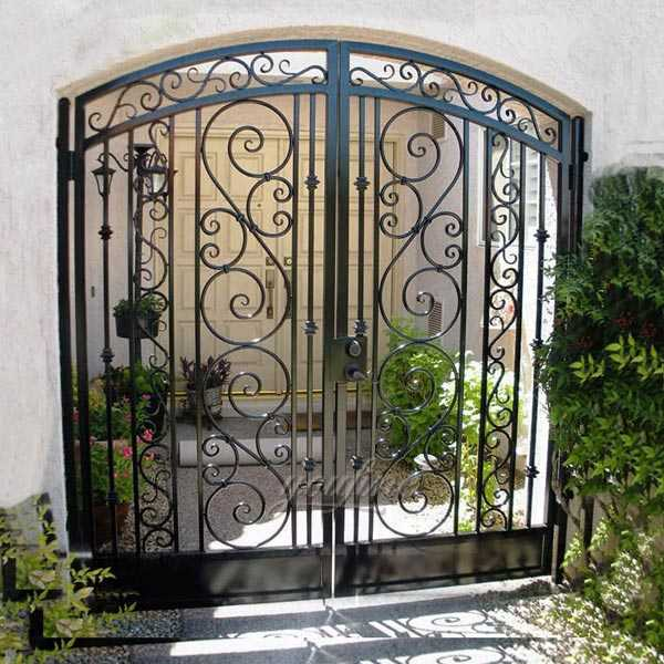 factory supply high quality wrought iron outdoor front gate for home decor for sale