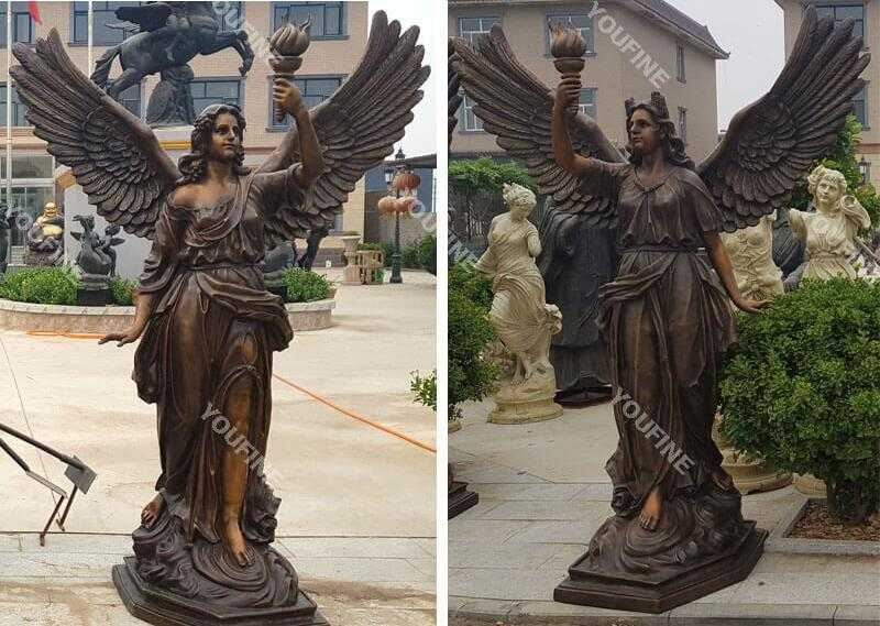 life size bronze angel statue for sale