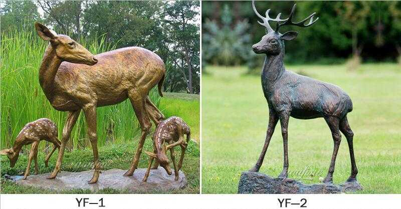 life size bronze deer statue for sale