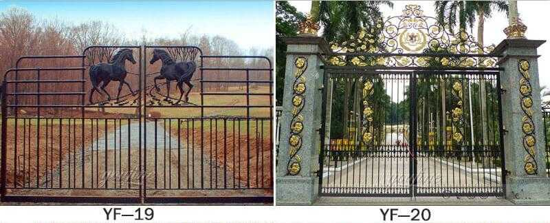 High Quality Gold Ornate Wrought Iron Entrance Gate