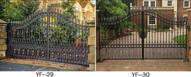 iron gates and fence