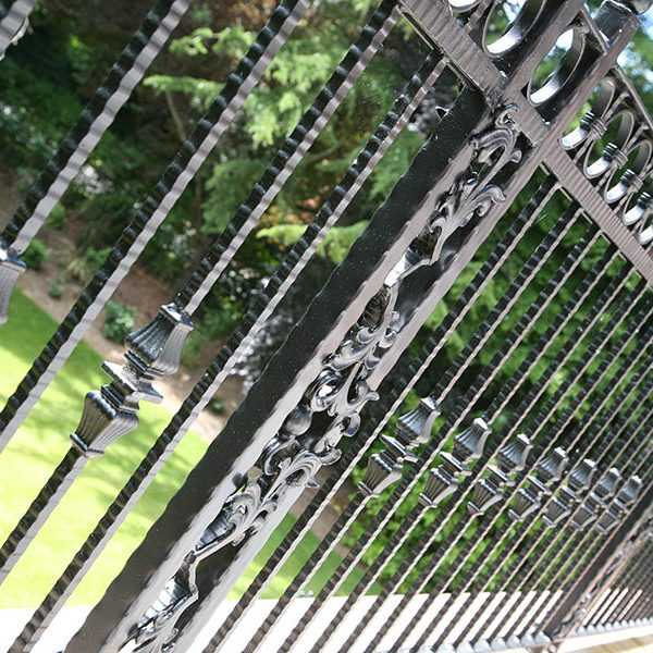 modern wrought iron railing designs for balcony
