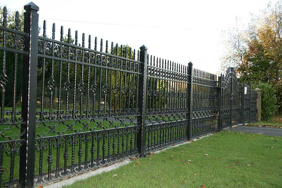 wholesale wrought iron fence panels