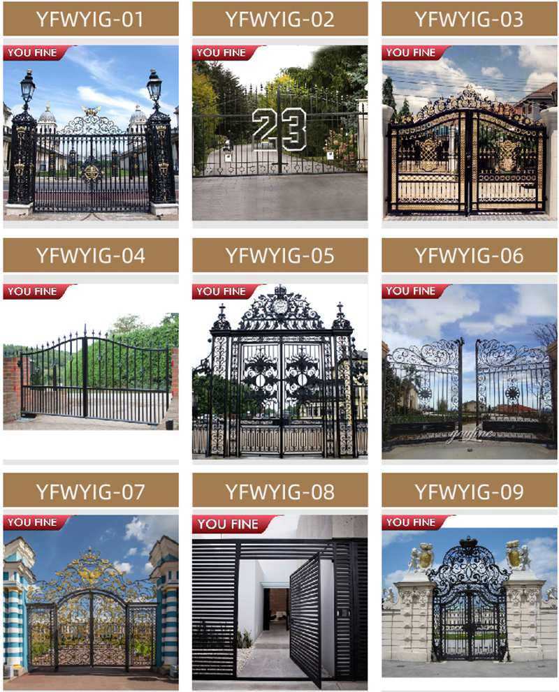 wrought iron driveway estate gate for sale