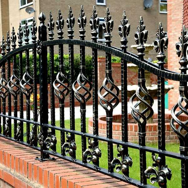 wrought iron fence decorative