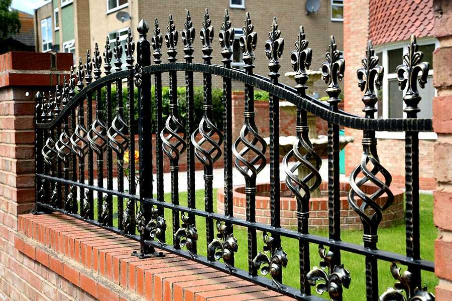 wrought iron fence decorative for sale