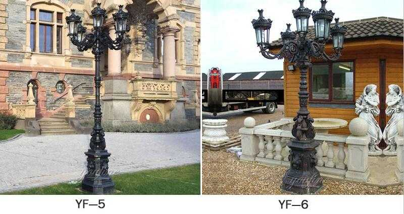 wrought iron outdoor lamp post