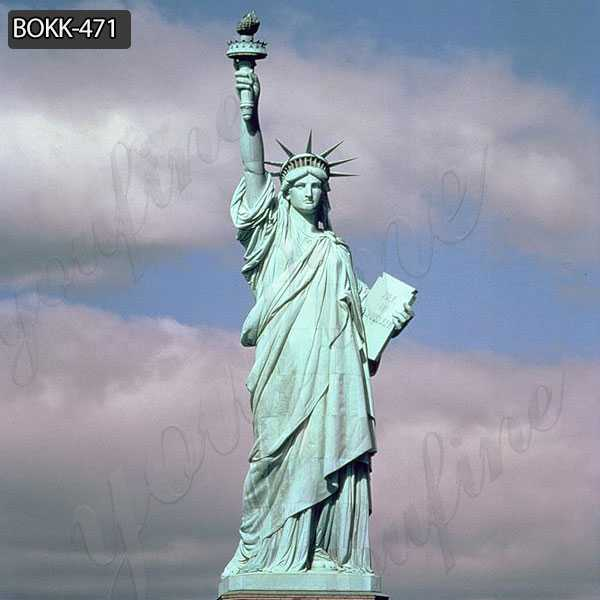 Antique Bronze Statue of Liberty