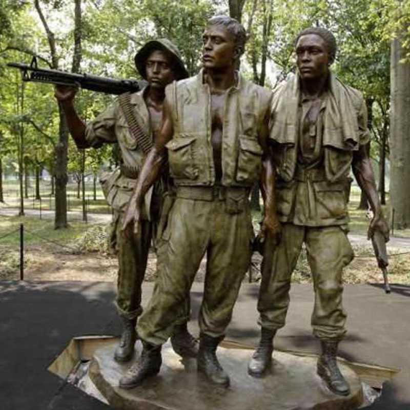 Antique bronze Vietnam war statue for sale