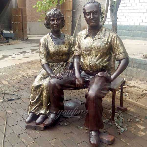 Antique custom made bronze casting life size figure statues from a photo for sale--BOKK-476