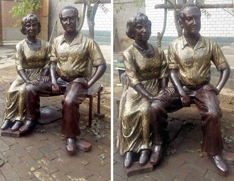 Antique custom made bronze casting life size figure statues from a photo for sale