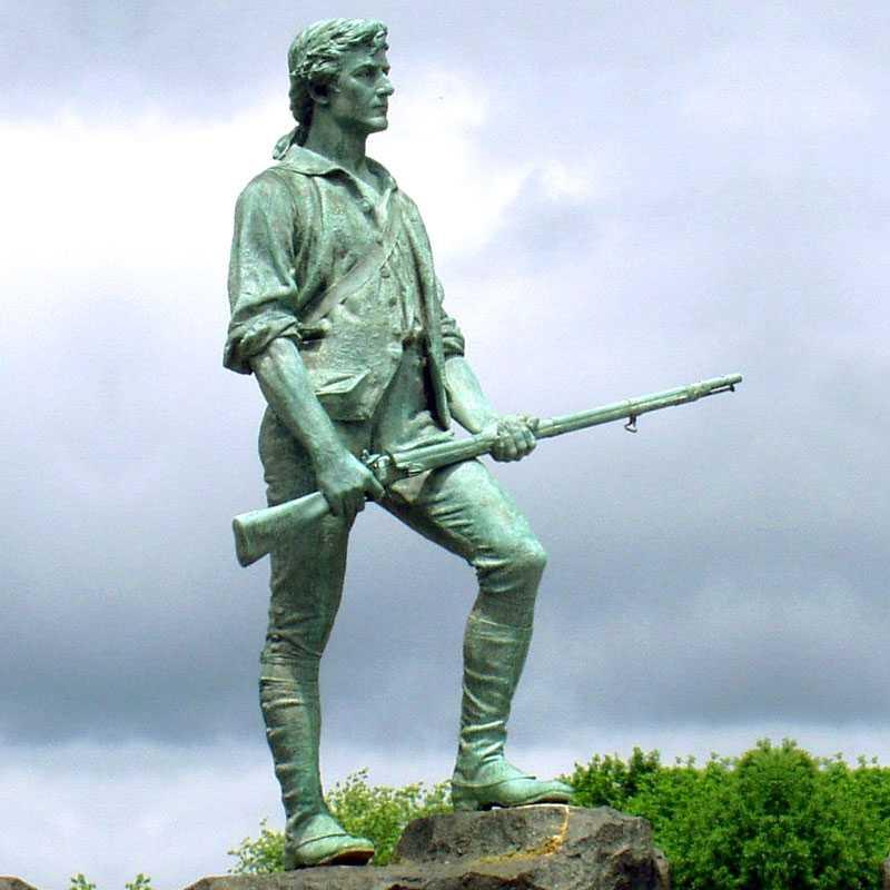 Bronze Soldier Sculptures to Memory the American Revolutionary War