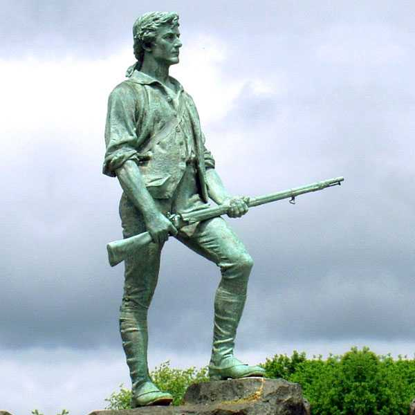 Bronze Soldier Sculptures to Memory the American Revolutionary War