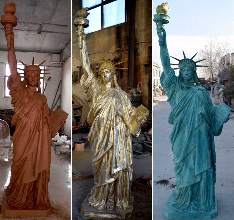 Buy world famous statues replica antique bronze statue of liberty replica for sale from China--BOKK-471