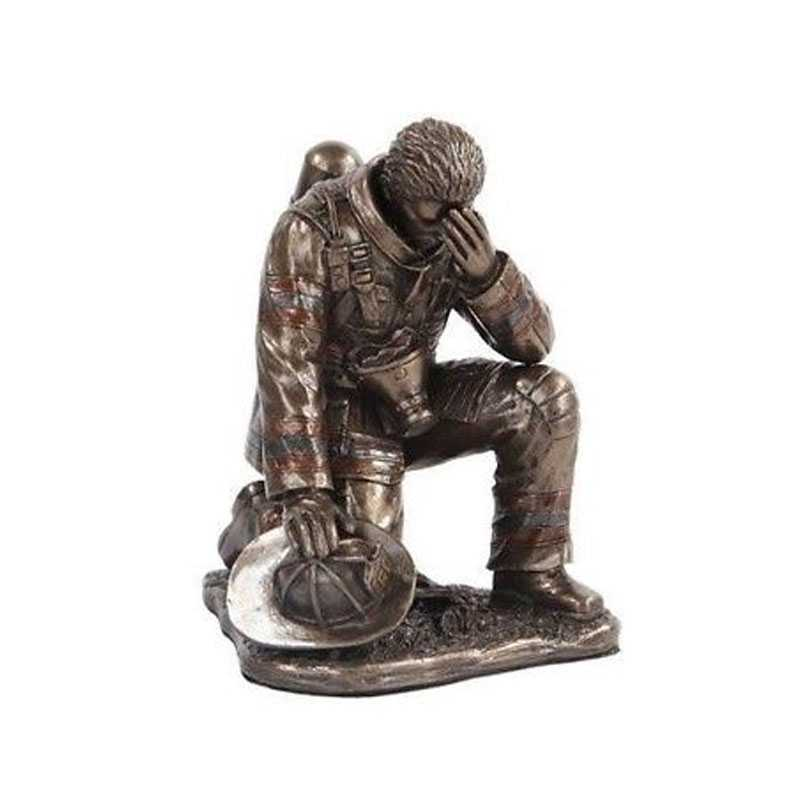 Casting Bronze Army Soldier Garden Statues Fireman Teamwork Firefighters Bronze Statue For Monument For Sale