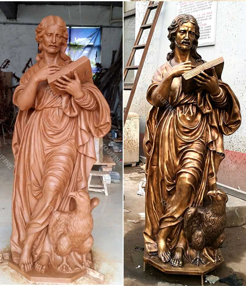 Clay model and bronze casting outdoor religious garden figure statues for sale