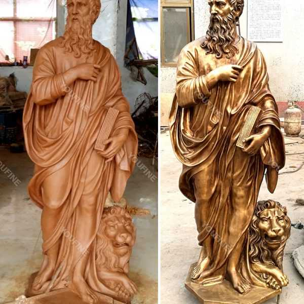 Clay model and bronze casting religious garden figure outdoor statues for sale