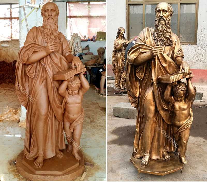 Clay model and bronze casting religious garden figure statues for sale
