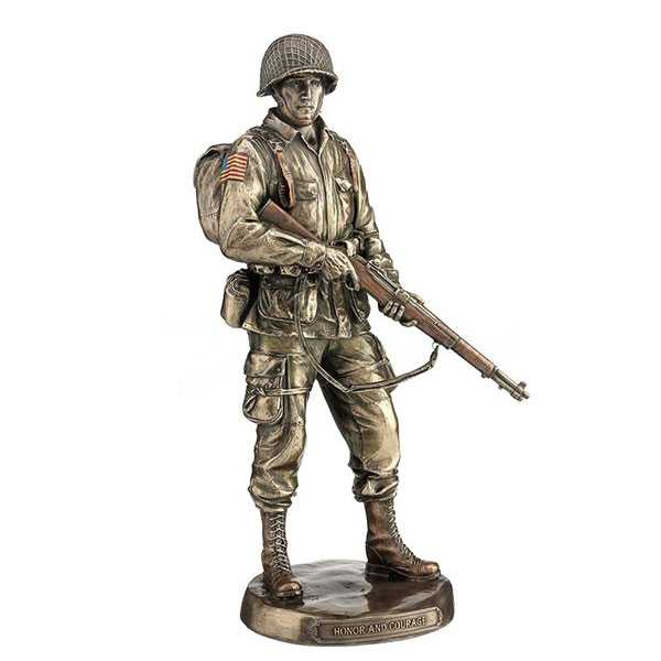 Customized Military Statue Bronze Sculpture Vivid US Army Soldier Design for Monument for Sale–BOKK-486
