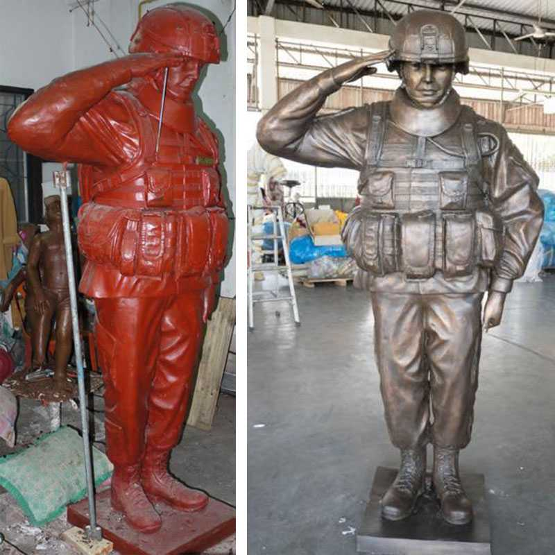 Customized Military Statue Bronze Sculpture Vivid US Army Soldier Design for Monument for Sale