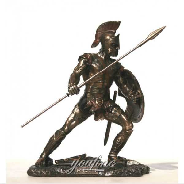 Customized Trojan Warrior life-size custom bronze garden statue for outdoor for sale–BOKK-480