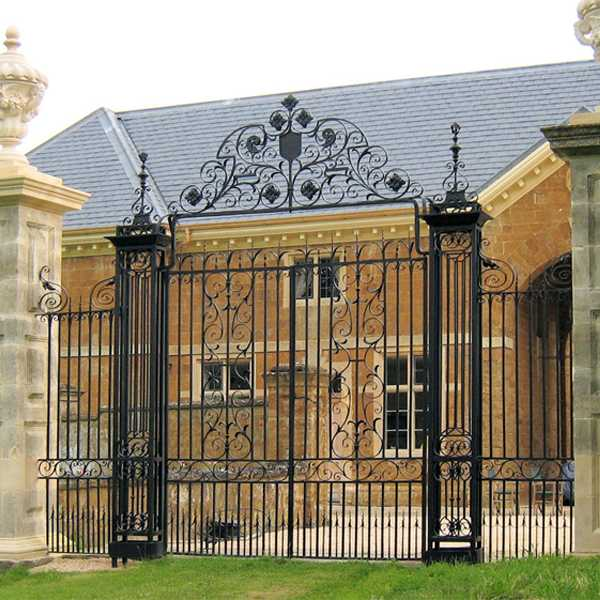Customized wrought iron driveway gate made for client Jemma from france for sale--IOK-257