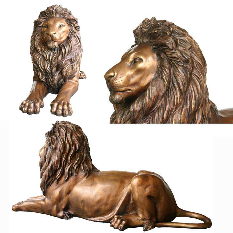 Decoration casting bronze lion statue for sale