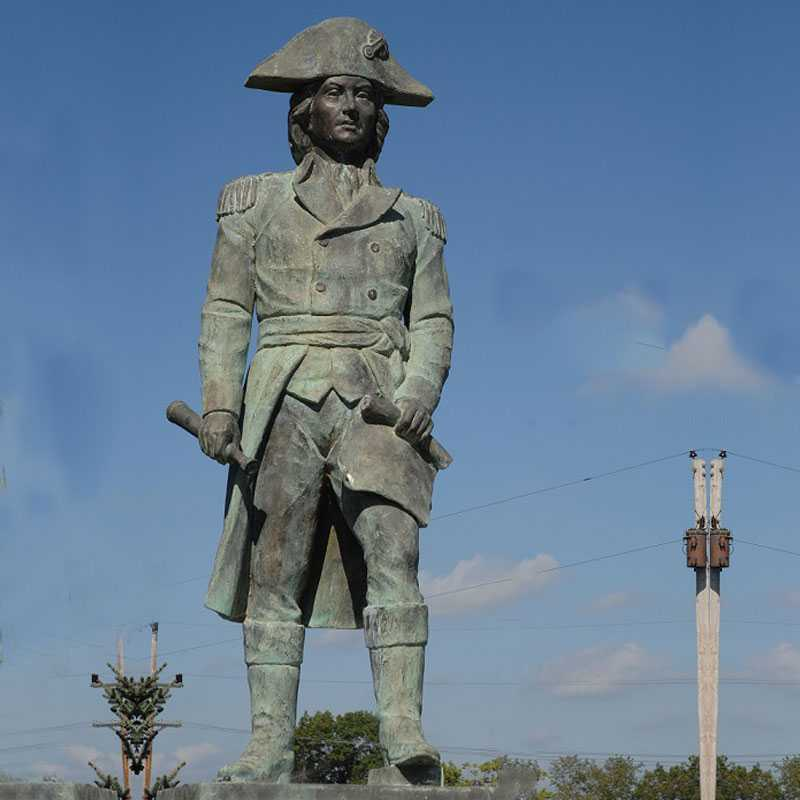 Famous Bronze Soldier Sculpture to Memory the American Revolutionary War